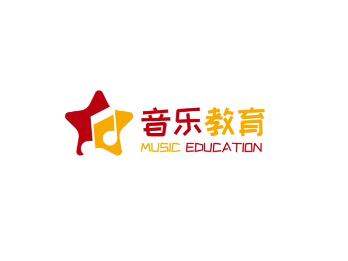 红黄色星星音乐logo设计