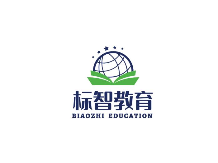 藍色創意地球書籍教育行業logo設計