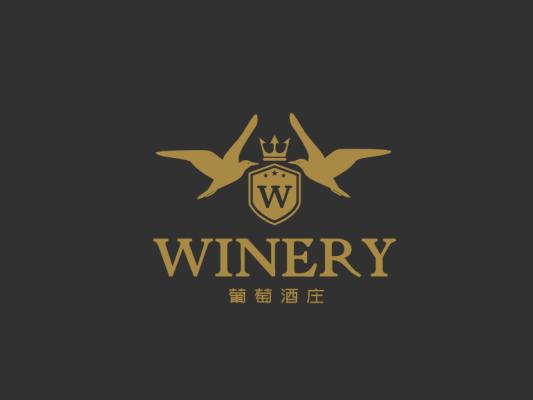 金色奢华高端 红酒logo设计