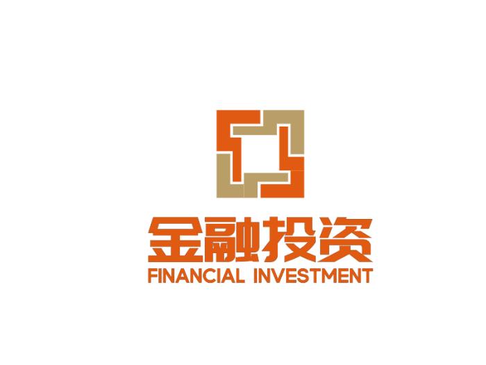 橘色金融經濟logo設計