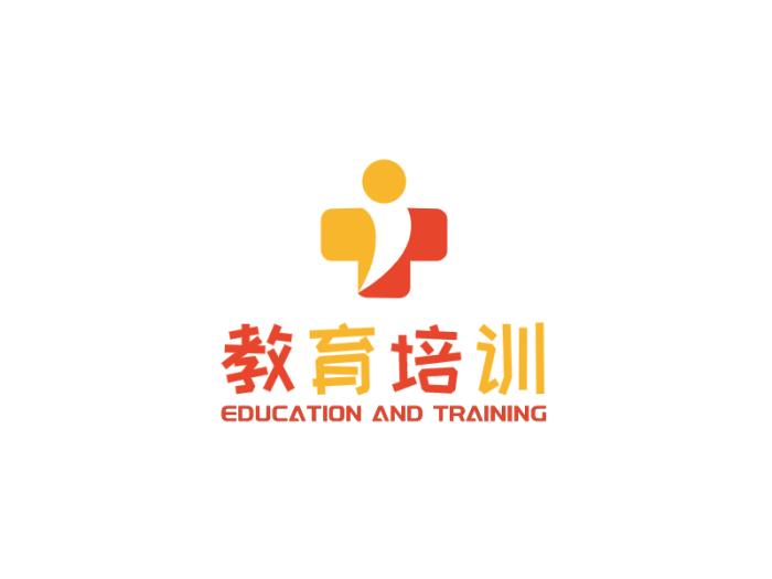 黃色可愛卡通教育logo設計