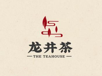 传统中式文艺茶logo设计