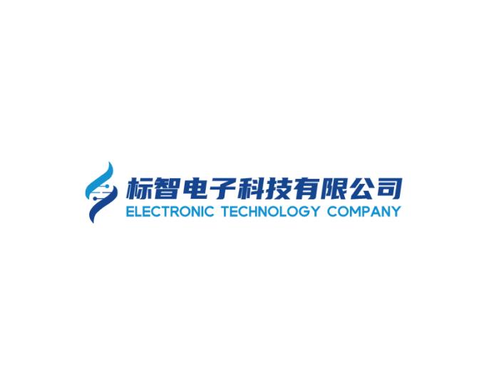 藍色簡約創意電子商務logo設計