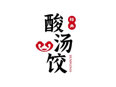 红黑色搭配中式传统餐饮logo设计