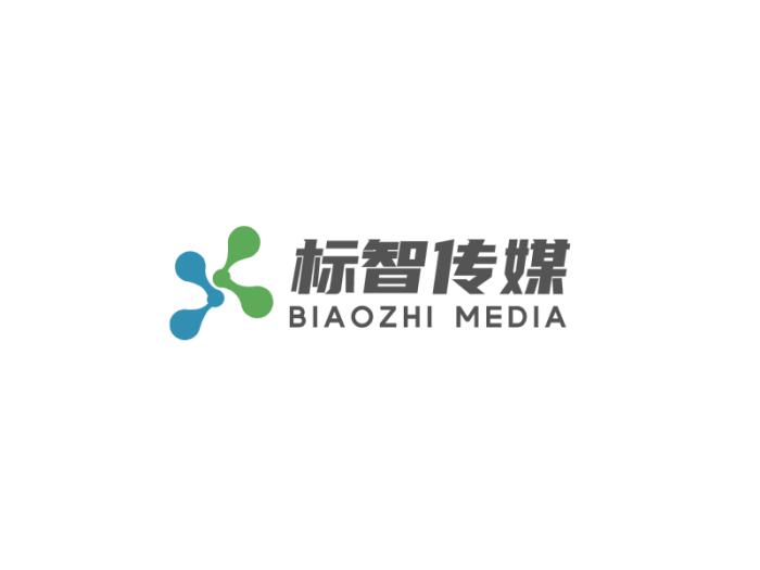 藍綠色簡約商業傳媒公司logo設計