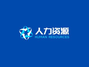 藍色簡約商務公司logo設計