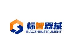 蓝色简约机械logo设计