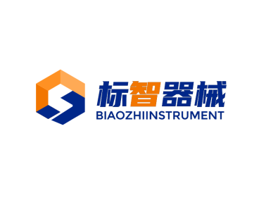 藍色簡約機械logo設計