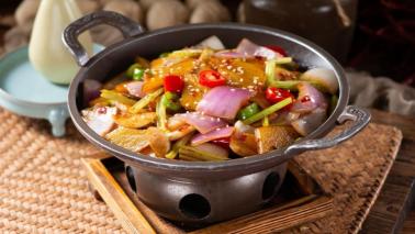 中式砂锅中餐美团招牌菜设计