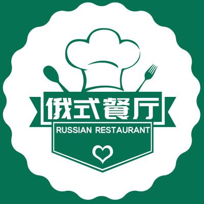 绿色简约西餐厅美团门店入口图设计