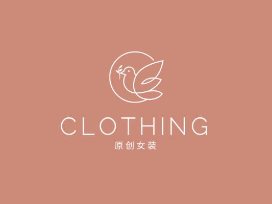 文艺清新女装服饰logo设计