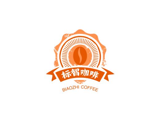 简约咖啡徽章logo设计