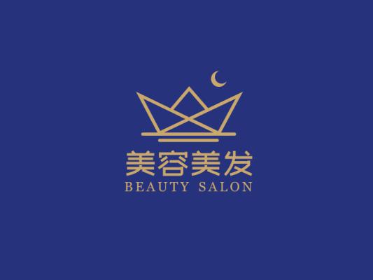 简约文艺皇冠月亮logo设计