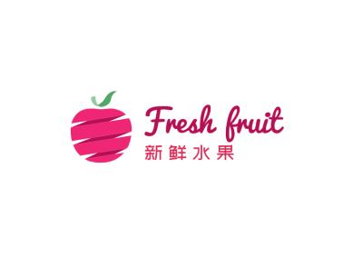 简约创意水果logo设计