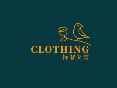 文艺花鸟服装店logo设计