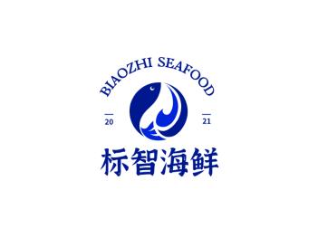 简约餐饮海鲜鱼logo设计