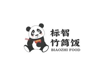 卡通熊猫餐饮logo设计