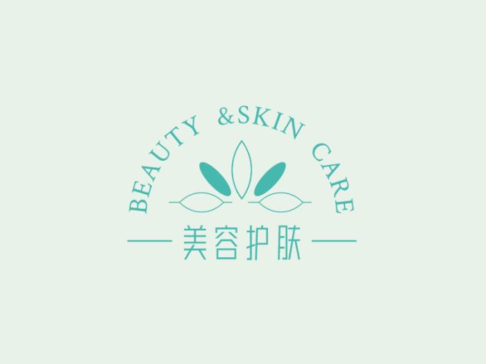 文艺清新美妆护肤logo设计