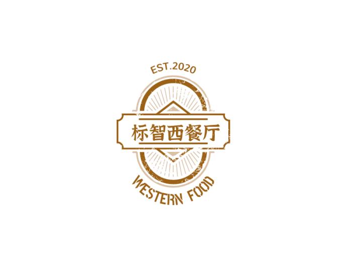 创意徽章餐厅logo设计