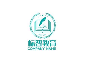 简约创意教育行业徽章logo护色剂