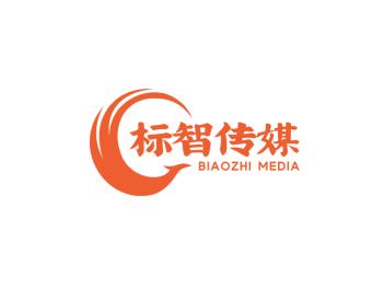 简约抽象凤凰造型传媒logo设计