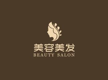 简约高级美容美发logo设计