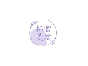 文艺清新美发logo设计
